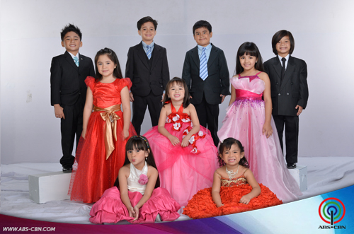 Goin Bulilit kids in gowns and suits